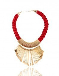 Red and Golden Neckpiece | India Shopping | Scoop.it