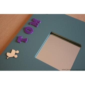 Cadre miroir bleu avec prénom personnalisable - Je crée tu craques | Mes créations de bijoux fantaisie et autres | Scoop.it