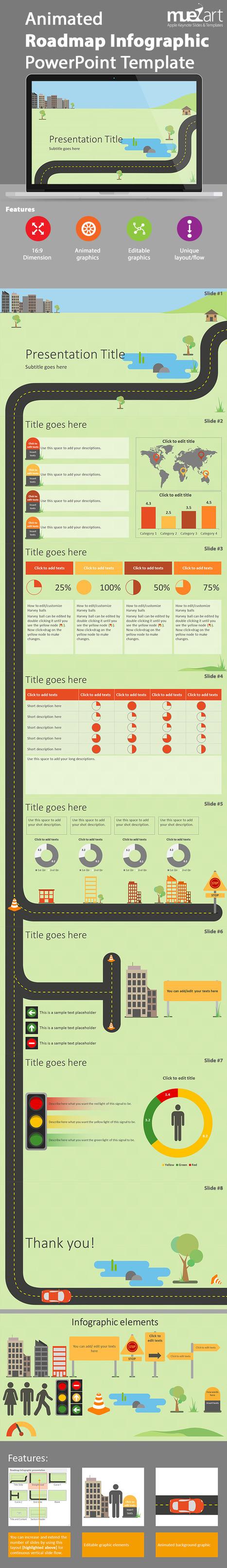 Infographic Roadmap Template   Apple Keynote Slides For Sale   Scoop.it