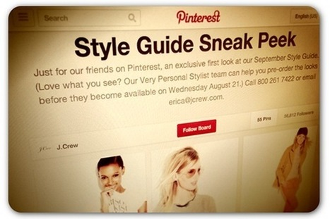 J. Crew promotes fall catalog with exclusive Pinterest debut | PR and Social Media | Scoop.it