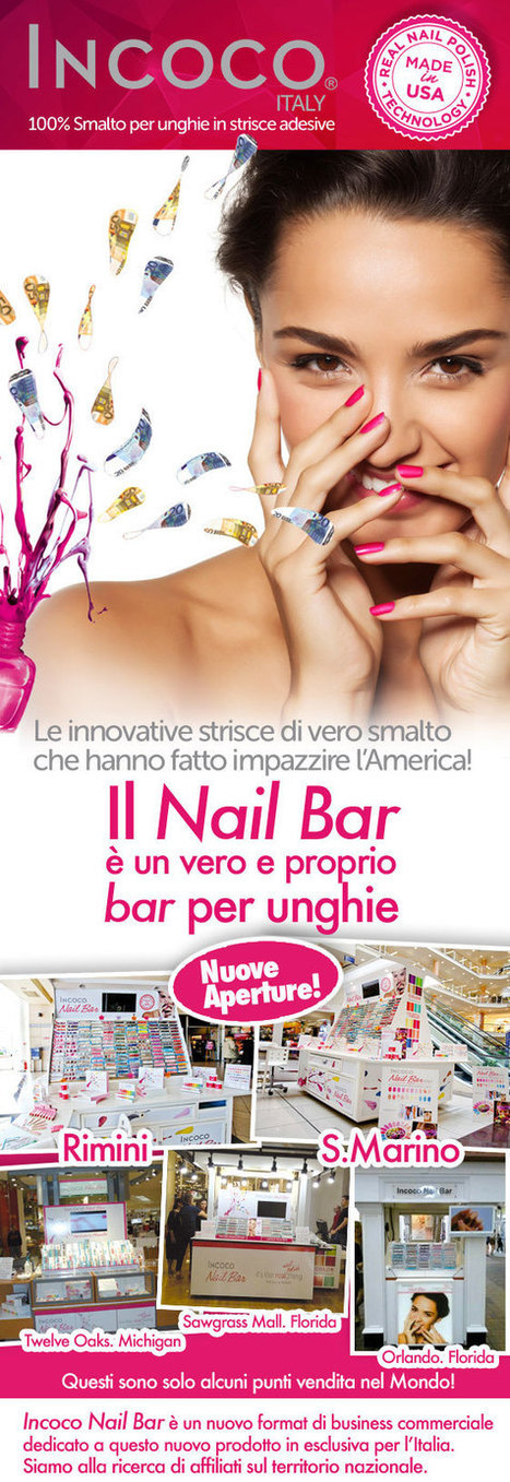 Incoco Nail Bar: smalto per unghie in strisce adesive | BeTheBoss.it | Franchising | Scoop.it