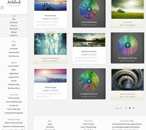 NoteBook WordPress Theme | Best WordPress Themes 2016 | Best WordPress Themes 2017 | Scoop.it