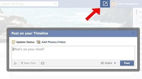 Facebook prueba un botón para publicar desde cualquier parte de su red. Sí, como Twitter | Social Media e Innovación Tecnológica | Scoop.it