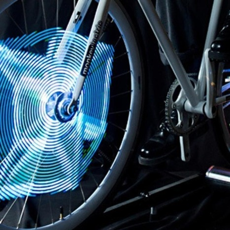 Motion-Activated Bike-Wheel LEDs Light up as Graphics   Technology in Business Today   Scoop.it