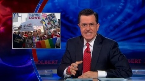 Colbert tells straight people how to protect their marriages from gay threats | political sceptic | Scoop.it