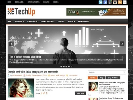 TECHUP | Blogger Themes | Blogger themes | Scoop.it