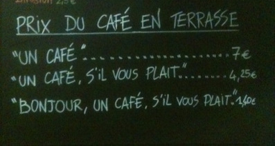 French café charges extra for rudeness | Strange days indeed... | Scoop.it