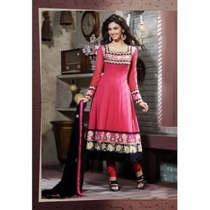 Aava Dark Pink Georgette Anarkali Churidar Kameez with Dupatta-8025 | Buy online Shopping in India Apparel, Watches, Sunglasses | Scoop.it
