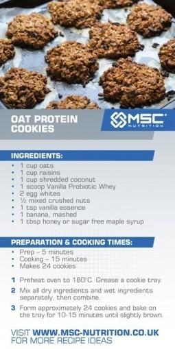 Oat protein cookies - MSC Nutrition | Healthy Easter Treats | Scoop.it
