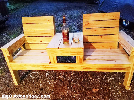DIY Wood Bench | MyOutdoorPlans | Free Woodworking Plans and Projects, DIY Shed, Wooden Playhouse, Pergola, Bbq | Garden Plans | Scoop.it