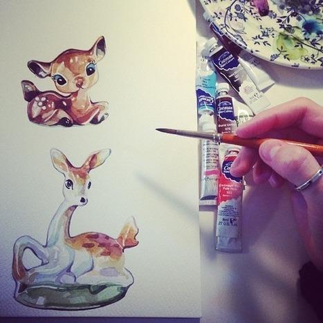 Watercolour Illustrations - Holly Exley Illustrator: Six Tips for Illustration Graduates PART ONE | Illustrators, artists, photographers | Scoop.it