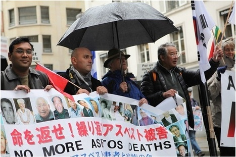 """Korean REPORT about the ANDEVA """"International Day of the Victims of Asbestos"""" conference and demonstration in Paris, France 