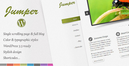 Jumper WP - One Page Theme | Premium Wordpress Themes | Scoop.it