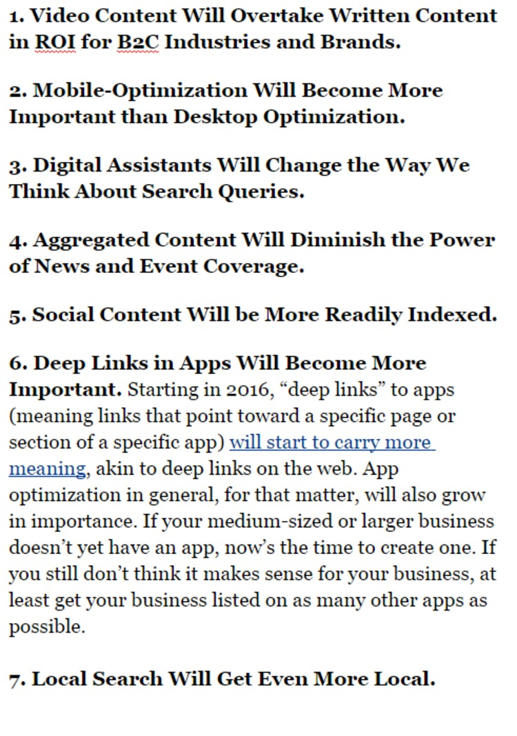 SEO Trends That Will Dominate 2016 - Forbes | The Marketing Technology Alert | Scoop.it