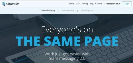 Skrumble. La communication 2.0 pour l'entreprise - Les Outils Collaboratifs | Les outils du Web 2.0 | Scoop.it