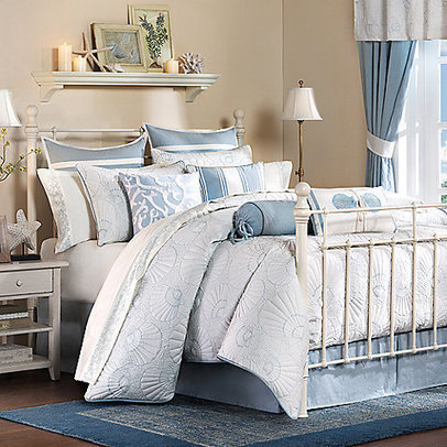 Harbor House Crystal Beach Comforter Set | Blue and White Bedding | Scoop.it