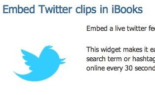 Embed a Live Twitter Widget in iBooks Author | offene ebooks & freie Lernmaterialien (epub, ibooks, ibooksauthor) | Scoop.it