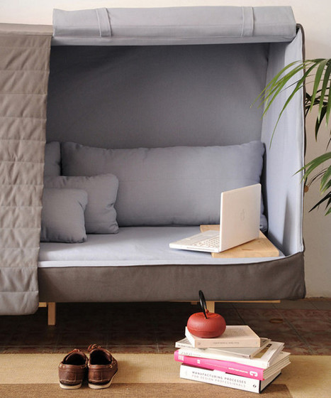 Orwell Sofa: A Private Urban Fort - Design Milk | Espacios Reducidos | Scoop.it