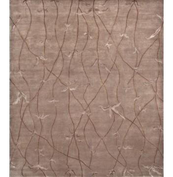 Rugsville Tibetan Brown Wool & Silk Rug 13013 - MODERN | Modern Area Rugs | Scoop.it