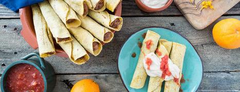 Orange Black Bean Taquitos | My Vegan recipes | Scoop.it