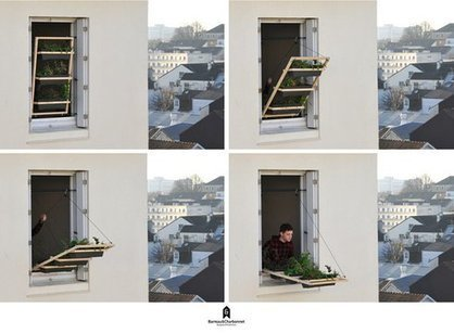 Hanging Plant Balcony Works Like a Drawbridge | Vertical Farm - Food Factory | Scoop.it