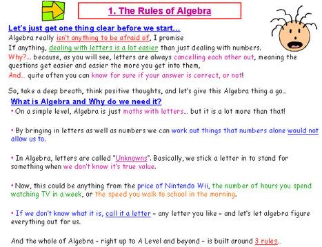 algebra rules - Google Search | ICT | Scoop.it