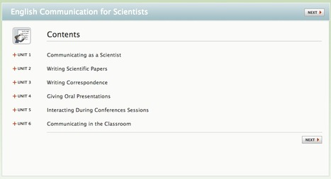 English Communication for Scientists   Learning technologies for EFL   Scoop.it