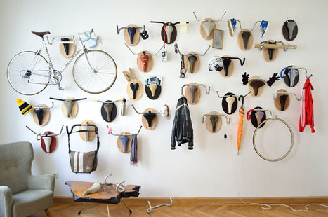 hunting trophy hanger made from recycled bicycle parts | Art & Design: Digital & Analog - and (Interior) Architecture | Scoop.it