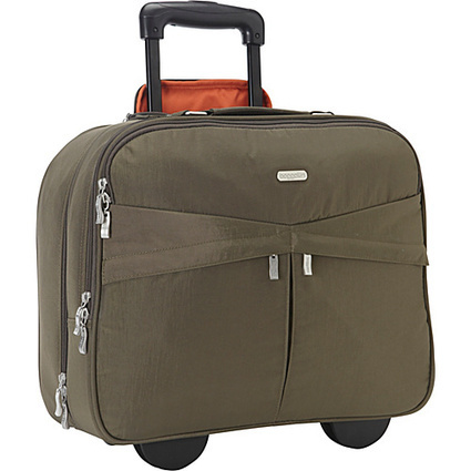 baggallini Skyline Rolling Briefcase Dark Olive/Spice - baggallini Ladies' Business | I love designer handbags | Scoop.it