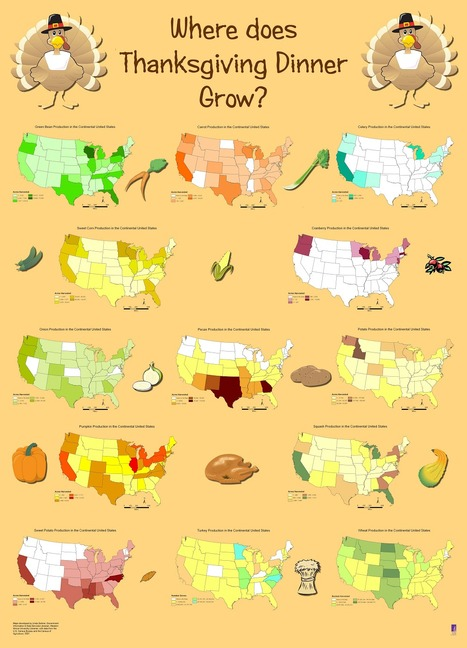 Thanksgiving Maps, Posters and Geospatial Data | Geography Education | Scoop.it