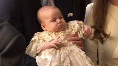 Baby Prince George is christened, 7 godparents named - CNN   Royal family   Scoop.it