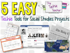 The Techie Teacher: 5 EASY Techie Tools for Social Studies Projects | TechSupportedLearning - EdTech | Scoop.it