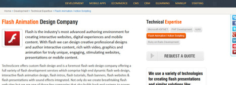 Flash Animation For Website | Best Website related services by TechnoScore | Scoop.it