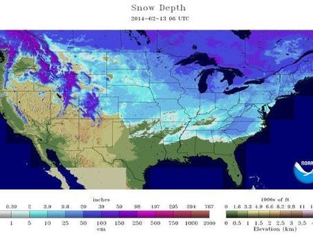 Where's the snow? On the ground in 49 of 50 states | Sustain Our Earth | Scoop.it