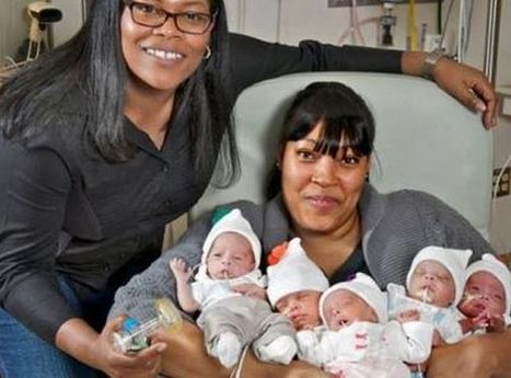 Lesbian couple in New Orleans celebrate Christmas as the parents of quintuplets - Gay Star News | All Things Lesbian | Scoop.it