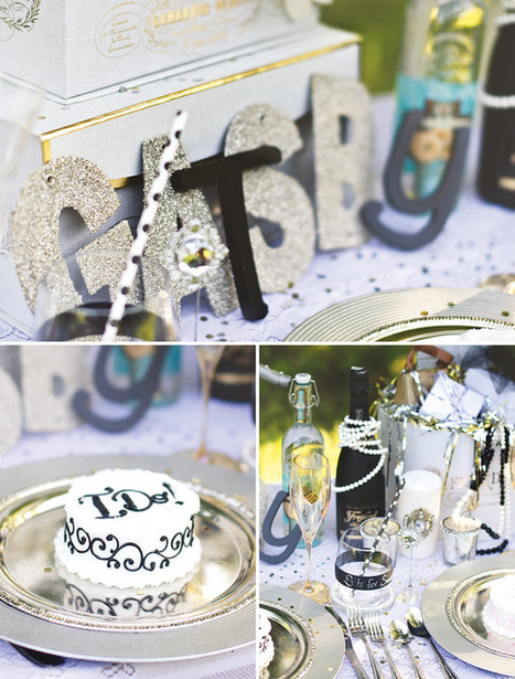 Glitzy Great Gatsby Inspired Wedding Table - Hostess with the Mostess® | Event Inspiration | Scoop.it