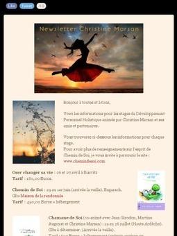 Christine Marsan : les stages de Développement Personnel Holistique 2014 | Conscience - Sagesse - Transformation - IC - Mutation | Scoop.it