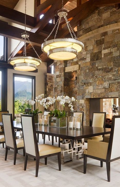 15 Gorgeous Dining Rooms with Stone Walls | Inspired By Design | Scoop.it