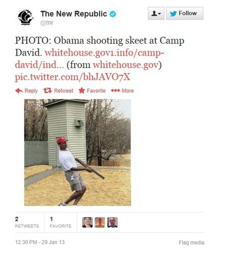 LOL>>Desperation! New Republic posts fake picture of Obama skeet-shooting | Littlebytesnews Current Events | Scoop.it