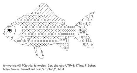 Fish   ASCII Art   Scoop.it