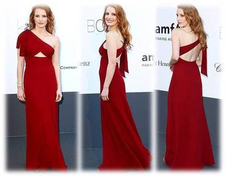 Sexy Dresses » Jessica Chastain One Shoulder Saint Laurent Dress | Beauty and Hairstyles | Scoop.it