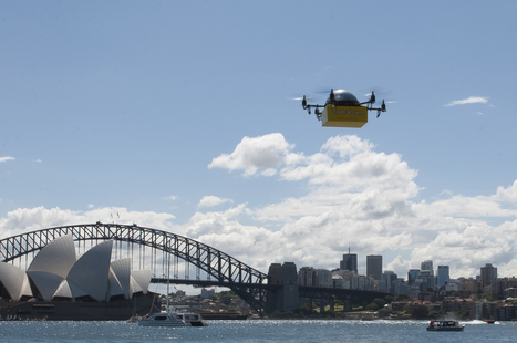 "Zookal starts ""world first"" delivery-by-drone service in Sydney 