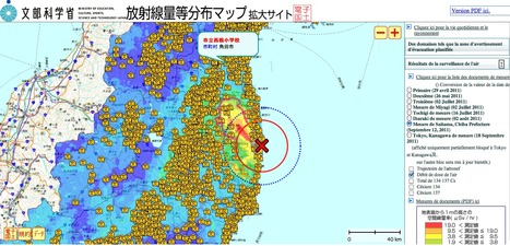 MEXT releases an interactive map | Mapping & participating: Fukushima radiation maps | Scoop.it