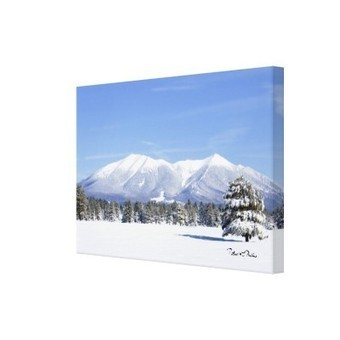 Snow Covered Prairie and San Francisco Peaks, AZ Wrapped Canvas Print | The Zazzle Usere's Group Forum | Scoop.it