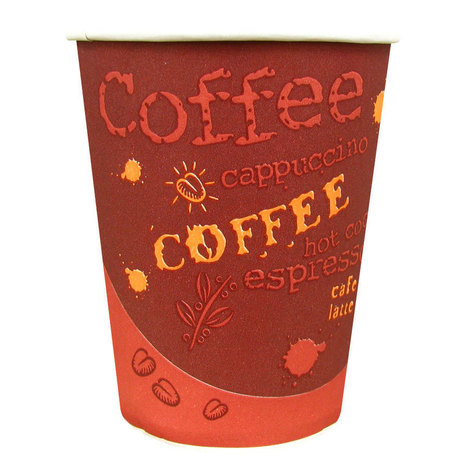 Choice 10 oz. Paper Hot Cup with Coffee Design 1000 / Case | Library Ideas - updates that are on the cheap but your kids will love! | Scoop.it