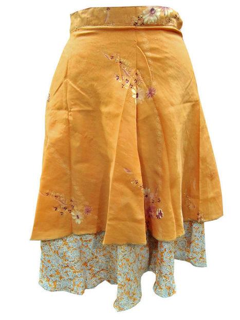Vintage Silk Wrap Dress Skirt Double Layer Reversible | Bohemian Fashion | Scoop.it