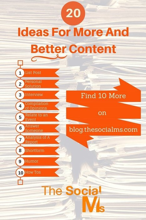 Blog Stories: 20 Ideas For More And Better Content | social mojo | Scoop.it