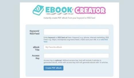 3 opciones para convertir publicaciones en libros electrónicos desde sus canales RSS | Recull diari | Scoop.it