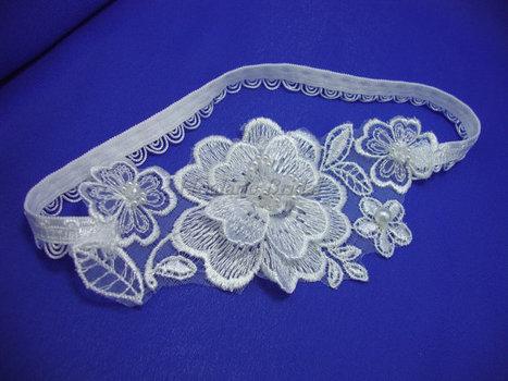 Garter, Floral lace Applique garter, Bridal Garter | Wedding Garters | Scoop.it