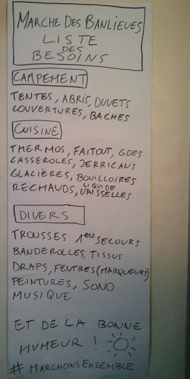 Liste des besoins | #marchedesbanlieues -> #occupynnocents | Scoop.it
